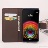 Wholesale Card Models Wholesale - Folio Wallet PU Leather Protective Flip Stand Cards Slots Case with Tower Embossing Process for LG X Power More Models option