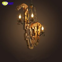 Wholesale Industrial Pendent Light - FUMAT American Retro LOFT Industrial Pendant Light Cafe Bar Restaurant Light Fixture Wooden Boat Pendent Lamp for Dinning Room