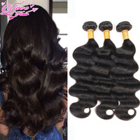 Wholesale Cheap Brazillian Wavy Hair - Queen Love Company Brazilian Body Wave 4 Bundles Cheap Human Hair Brazillian Virgin Hair Body Wave Wet And Wavy Virgin Brazilian Hair