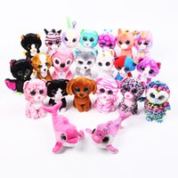 Wholesale Poodle Plush Toy - 5PCS SET Toys Beanie Boos Big Eyes Different Style Plush Animal Poodle Toys Best gifts for Children Toy TY Nano Dolls Educational
