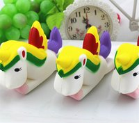 Wholesale Squishy Original - Wholesale Squishy Unicorn 13.5*10*3.5CM Slow Rising Soft Collection Gift Decor Original Packaging Phone Accessories