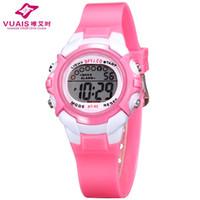 Wholesale Pink Girl Under - Prema Brand Kids Children digital Watches Quartz Rubber Sports Wrist Watch Boys or Girls clock full function waterproof