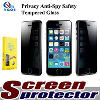 Wholesale Galaxy S4 Privacy Screen - Anty spy screen For Samsung Galaxy S3 S4 S5 S6 9H Anti-Spy Privacy Protector Tempered Glass Film of Galaxy A5 J5 E5 Note 5 4 3 2