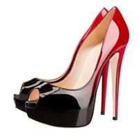 ingrosso scarpe stiletto alla moda-2017 ZK scarpe nuovo arrivo peep-toe sandali delle donne alla moda stampe animali con tacchi a spillo piattaforma water-resistant sizeUS4 ~ 12.5
