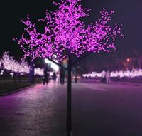 ingrosso alberi artificiali all'aperto illuminati-1.5 m / 5ft altezza albero di Natale artificiale all'aperto LED Cherry Blossom Tree Light 480pcs LED dritto tronco d'albero LED Light Tree