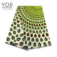 Wholesale Painting Drop Cloth - YOD 2017 6yards lot Beautiful Royal African Batik real wax fabric with Scatter Water Drops Hollandais painting wax for cloth