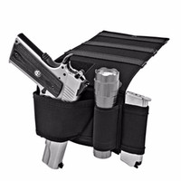 Wholesale Car Mount Holster - Adjustable tactical Concealed Under Car Seat Pistol Holster pouch Wall Mount Bedroom Closet Gun pouch Holster
