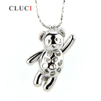 Wholesale 12mm pendant - 5pcs silver plated 18K Fly Bear shape cage pendant 23*8*12mm Design by Ourselves and Fashion Charm
