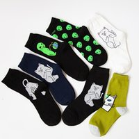 Wholesale Animal Lords - Mid Crew Socks Lord Nermal Alien Cat ET Pop-Up Spaced WE OUT HERE Skater come in peace Men Women Road Trip Character Sock