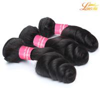 уток для волос оптовых-Фабрика 7A бразильские человеческие волосы плетения пучки дешевые бразильские девственные свободные волны расширение естественный цвет можно покрасить машина двойной уток