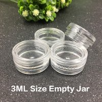 Wholesale Cream Jars Wholesale - 3ML Clear Base Empty Plastic Container Jars Pot 3Gram Size For Cosmetic Cream Eye Shadow Nails Powder Jewelry