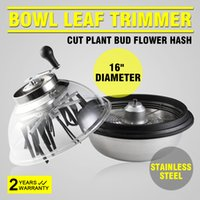 """Wholesale Electricity Wires - Professional 16"""" Bowl Leaf Trimmers Hydroponics Stainless Steel Plant Bud Spin W  Wire Blades"""