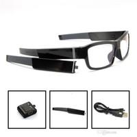 câmera de pinhole controle remoto venda por atacado-Controle remoto 1080 P Óculos câmera óculos DVR pinhole câmera mutável bateria Gravador De Vídeo Digital Eyewear sem buraco mini Filmadora