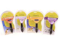 Wholesale Shedding Grooming Tool - Pet Dog Cat Hair Trimmer Shedding Cat Dog Long Short Fur Hair Brush Comb Grooming Tool free DHL
