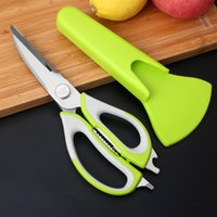 Wholesale Refrigerators Stainless - Multi-function Food Scissor Cutting Chicken Fish Food Knife Kitchen Barbecue Refrigerator Scissor #4230