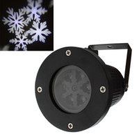 snowflake projector lights 2018 - Wholesale- Outdoor Garden Tree Moving Snow Laser Projector Snowflake LED Stage Light Christmas Lights New Arrival
