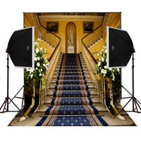 Wholesale Digital Wedding Cameras - vintage floral carpet upstairs church photo background for wedding camera fotografica digital cloth studio props photography backdrops vinyl