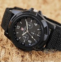 Wholesale Digital Wrist Watch Low Price - New arrival Sport Style Solider Military Army Canvas Belt Luminous Quartz Wrist Watch low price high quality