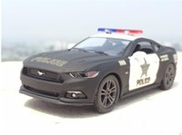 Wholesale Mustang Brand - Ford 2006 Brand New 1:38 Ford 2006 Mustang GT Police theCar Alloy Diecast Model Car Vehicle Toy Collection As Gift For Boy Children