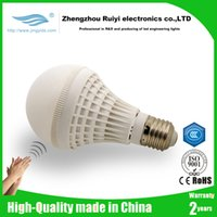 Wholesale E27 Type Led Bulbs - newest model e27 globe type led sound control senser Light bulbs AC85-260V auto on off switch for Porch hallway Corridor