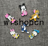 Wholesale Donald Duck Charms - Wholesale Mickey Minnie Donald Duck Cat Mouse DIY Metal pendants Charms Jewelry Making Gifts Q-43