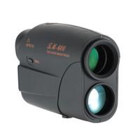 telescópios de distância venda por atacado-Freeshipping Compact 7X25 Telescópio a laser Rangefinder 600 m laser Range Finder Golf Rangefinder Caça Monocular Distância Medidor de Velocidade Tester