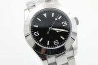 Wholesale Brands Deli - Big masters II men luxury brands, stainless steel automatic AAA brand, 214270Perpetual II Explorer watches, original watch buckle, free deli