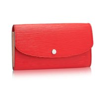 Brand New Many Colors Emilie Monedero Damier Azur / Rose Ballerine Embrague HOT PINK Emily Red Long Bifold Wallet N41625 Carteras de cuero para mujer