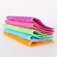 Wholesale Thick Kitchen Towels - Kitchen clean cloth thick bamboo fiber washing towel absorbent non - stick oil cleaning cloth household cleaning tools