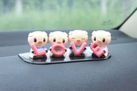 Wholesale Sticker Swing - 2pcs lot 4x pigs stickers Head swing car accessories funny Toys automotive interior decorations 4 pigs LOVE toys car interior decoration