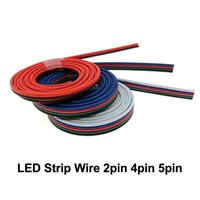 2pin 4pin 5pin Lighting Wire Cable para uma única cor / RGB / RGBW LED Strip Connect 5m / lot