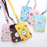 Wholesale Office Wallets - Fruit Double-Layer Card Note Holder Bus Business Credit Cover Case Wallet Office Card Holder student pick up Stationery Card Stand
