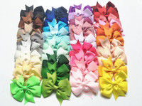 Wholesale best china ornaments for sale - Group buy Best gift Ornament V Ribbed Swallowtail Ribbon Baby Bowknot Hair Card Hair Accessories Child Hairpin FJ130 mix order pieces a