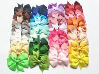 orden de la tarjeta al por mayor-El mejor regalo Adorno Ribbon Swallowtail en V Baby Bowknot Tarjeta para el pelo Accesorios para el cabello Horquilla para niños FJ130 orden de la mezcla 60 piezas mucho