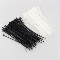 "Wholesale Plastic Fastenings - 100pcs 8"" 3X200MM Nylon Plastic Cable Ties Zip Fasten Wire Wrap Strap Black"