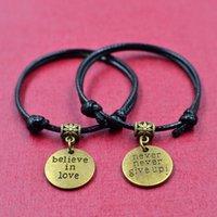 Wholesale Black Keys Signed - 2017National air sign bangle bracelet, friend key and lock partner line
