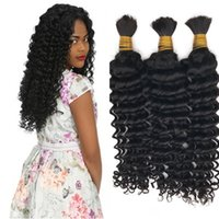 Wholesale human braiding hair deep wave for sale - Braiding Hair Bulks Deep Wave Mongolian Hair Extensions in Bulk for Braiding A Human Hair FDSHINE