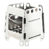 Wholesale Outdoor Hiking Camping Stainless Steel Outdoor Stove Lightweight Folding Wood Stove Pocket Alcohol Stove Outdoor For Cooking Backpacking