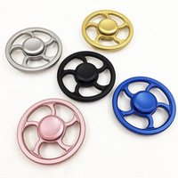 Wholesale Set Steering Wheel - Steering Wheel Metal fidget Spinners Fingertip Gyro Aiming Circle Hand Spinners Decompression Anxiety Toys EDC with Retail Box