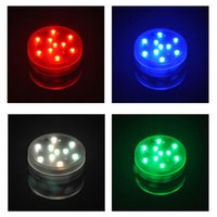 Wholesale led candle bulb remote - 10 LED Submersible Waterproof Remote Control Colorful Lights led Decoration Candle Wedding Party High Quality Indoor Lighting for fish tank