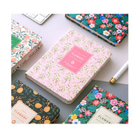 Wholesale Wholesale Book Binding Supplies - Wholesale- PU Leather Floral Flower Schedule Book Diary Weekly Planner Notebook Material Escolar School Office Supplies Stationery
