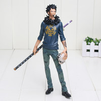 Wholesale Trafalgar Law Toys - Anime One Piece Trafalgar Law After 2 Years PVC Action Figure Collection Model Toy approx 27cm free shipping
