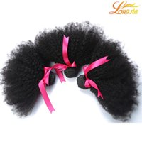 Wholesale Afro Kinky Weave - Gorgeous Lady Hair!Malaysian Human Hair Afro Kinky Curly Extensions Weaves 3 Bundles Lot Unprocessed afro curly Human Hair Bundles