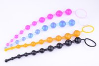 Wholesale Wife Anal Beads - Color backyard pulled bead anal plug flirting adult sex supplies for men and women lovers make love of husband and wife sex toys