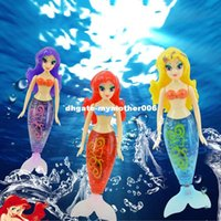 Wholesale Battery Operated Dolls - 15cm electronic pet robot small mermaid fish tail swimming colorful wig robofish dolls toys for kids christmas gifts
