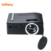 Wholesale Business Card Usb - Wholesale-UC18 320*180 Mini projector phone hd 1080P video portable projectors with HDMI TF Card USB CVBS LED for Home theater Cinema