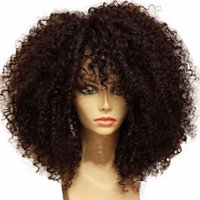 Wholesale Short Curly Lace Front - Best quality Short Curly wigs Synthetic Ladys' Hair Wig Short curly Africa American synthetic lace front Wig for black woman