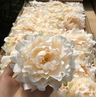 20pcs / lot de alta qualidade 15cm / 5.9 polegadas Silk Peony Flower Heads Simulação artificial Silk Peony Camellia Rose Flower Wedding Decoration