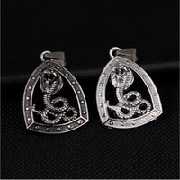 Wholesale Gold Cobra Pendant - Free Shipping -Boutique men deserve to act the role of the cobra necklace to restore ancient ways snake pendant sweater Jewelry +Free Gift