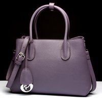 Handbag Ladies bag Noble Genuine leather Designer Totes com grande capacidade Wife Gift 2017 Moda Alta qualidade Black purple 37659